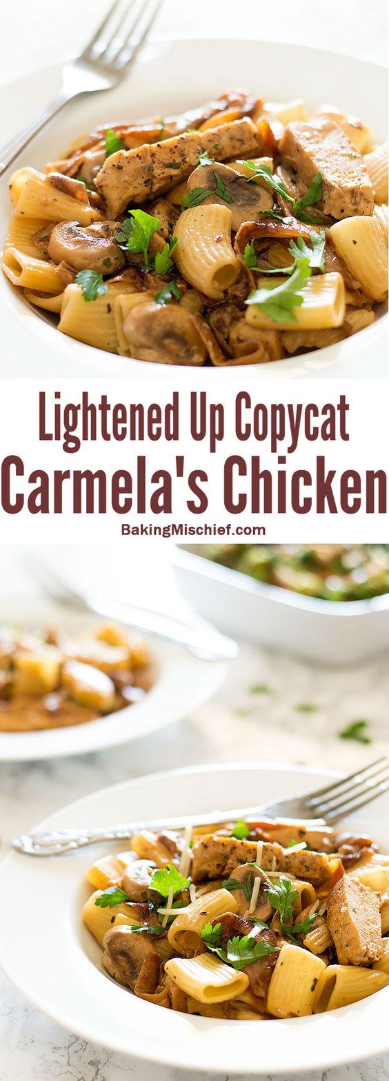 Lightened Up Copycat Carmela's Chicken - Chicken, mushrooms, and ...