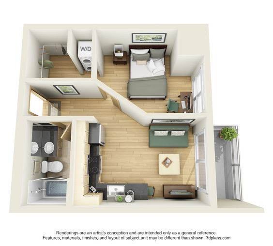 Unit E Floor Plan Studio Apartment Floor Plans Studio Floor Plans Sims House Plans