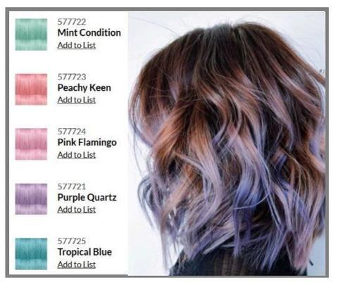 Crazy Colors Direct Dye Pop Power Of Paint Hair Color By Paul Mitchell Rengarenk Sac Balyaj Sac Sac