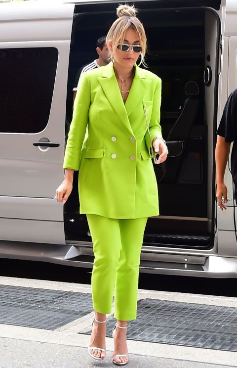 Lime Green Pantsuit