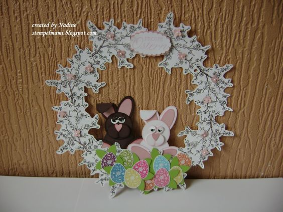 Ostern Easter Stampin Up Wreath Tuerkranz