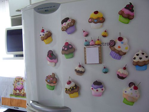 Cupcake Magnets Porcelana fria polymer clay modelado figurine cake topper fimo pasta francesa masa flexible