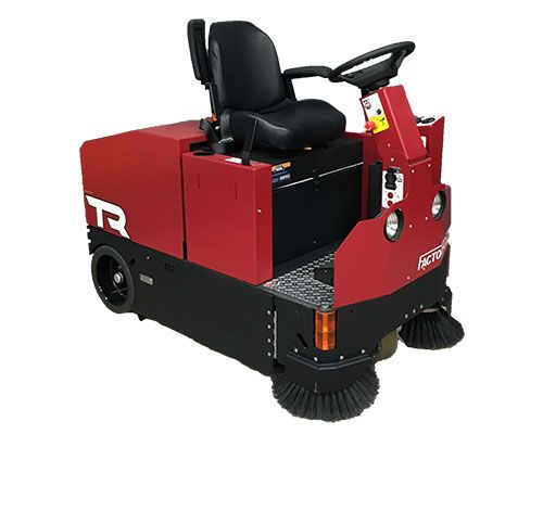 Reconditioned Factory Cat Tr 46c Rider Floor Sweeper Floor Sweepers Bag Of Cement Riding