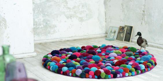 tapete feito com novelo de lã - Pesquisa Google