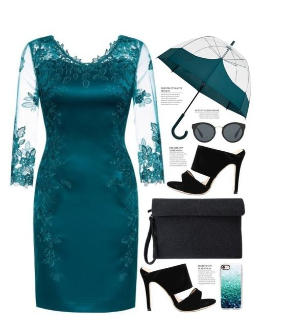 """""""Twinkledeals 79"""" by becky12 ❤ liked on Polyvore featuring Hunter, Prada, Casetify, dress, Elegant, evening and twinkledeals"""