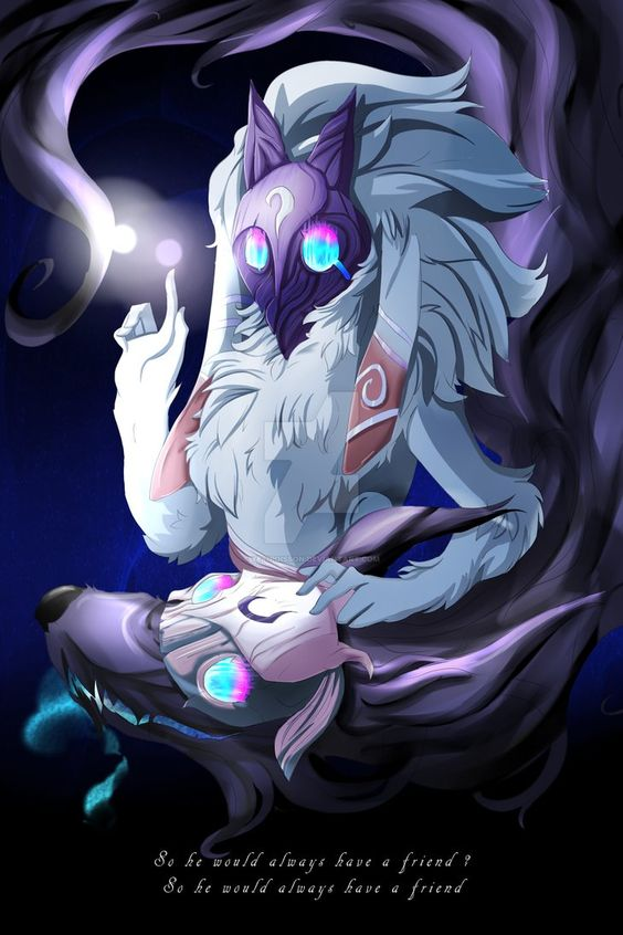 Kindred League of legends by YetiPoisson on DeviantArt