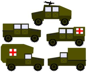 Army Vehicles by ScrappyDew.com