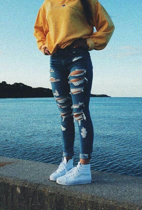 Look calça jeans cintura alta estilosa