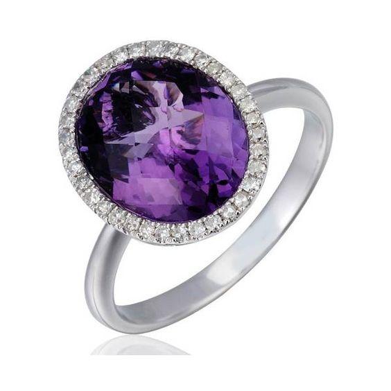 Precio anillo de diamantes y amatista en oro blanco for Piedra royal veta precio