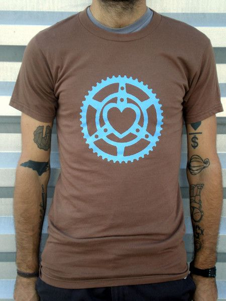 Chainring Heart t-shirt.