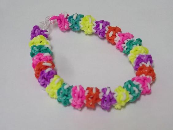 Pulsera gominolas de gomitas gumdrop bracelet on loom