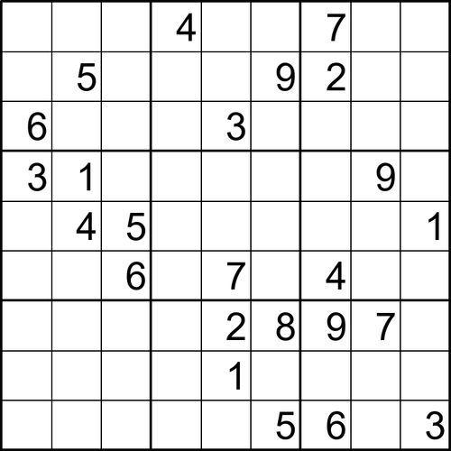 Sudoku Para Imprimir Nº 19 Imprimir Sobres Sudokus Oficios Y Profesiones