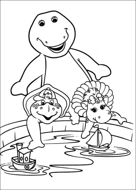 Barney och vänner Målarbilder för barn. Teckningar online till skriv ut. Nº 3