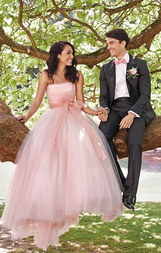 Blush wedding dress / Pink wedding dress: