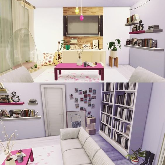 Mony Sims The Cute Livingroom Sims 4 Downloads Late