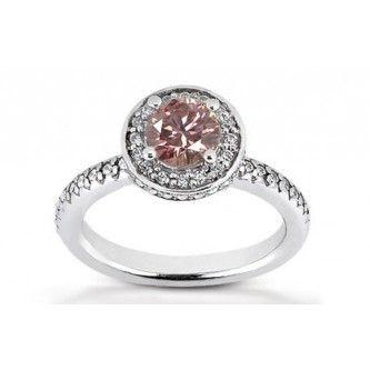 1.50 Karat Pink Diamant Ring aus 585er Weißgold. Ein Diamantring aus der Kollektion Pink von www.pearlgem.de