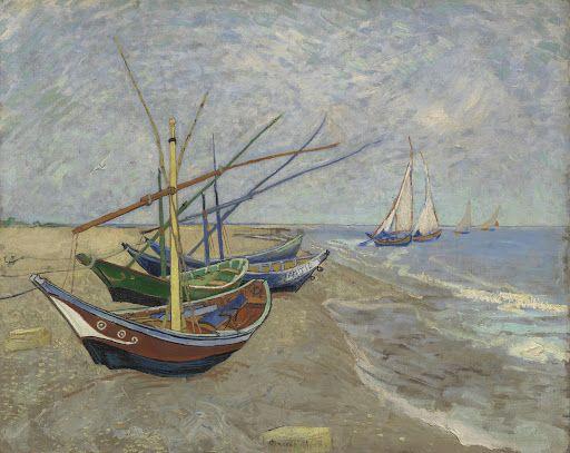 Fishing Boats on the Beach at Les Saintes-Maries-de-la-Mer, 1888, Vincent van Gogh, Van Gogh Museum, Amsterdam (Vincent van Gogh Foundation).