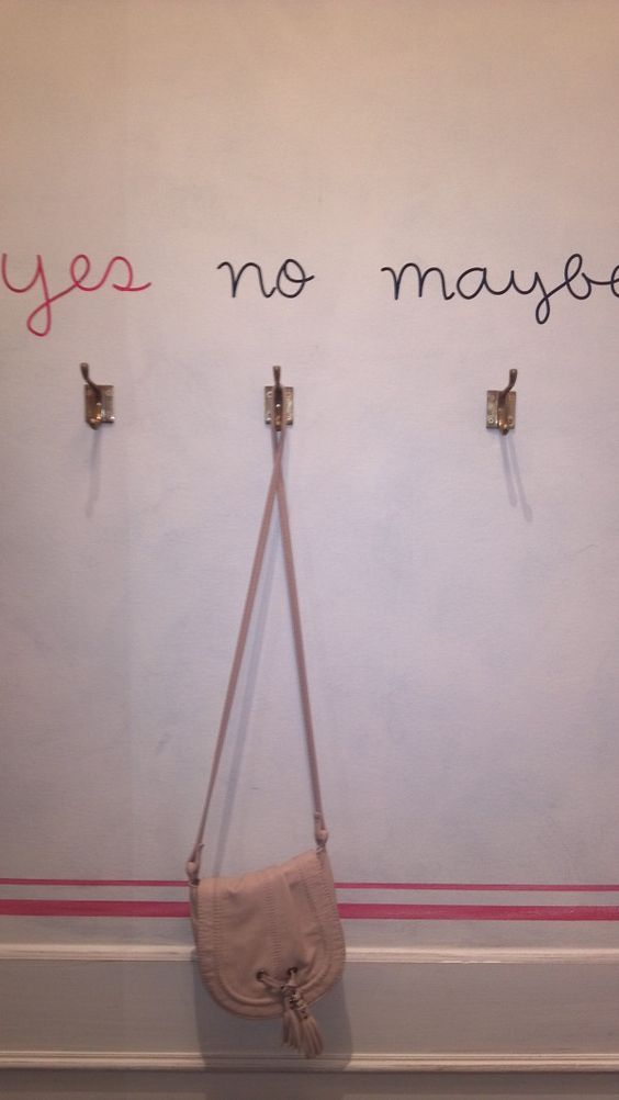 needed in fitting rooms and maybe one that says mine