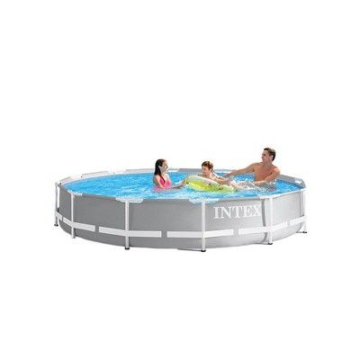 Intex 12 Foot X 30 Inches Prism Frame Above Ground Pool W 530 Gph