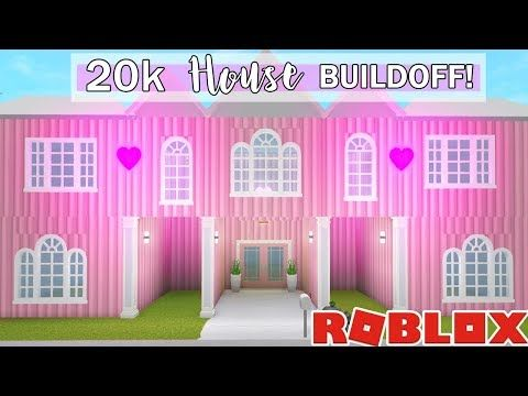 I Spent 24 Hours In Someones House Roblox Bloxburg Youtube - I Challenged My Best Friend To A 20k Bloxburg House Buildoff