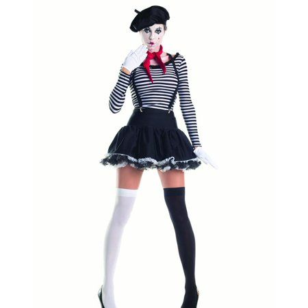 Marvelous Mime Womens Costume