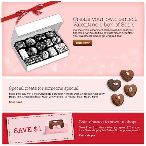 See\'s Candies » Beautiful Email Newsletters | Email Inspiration ...
