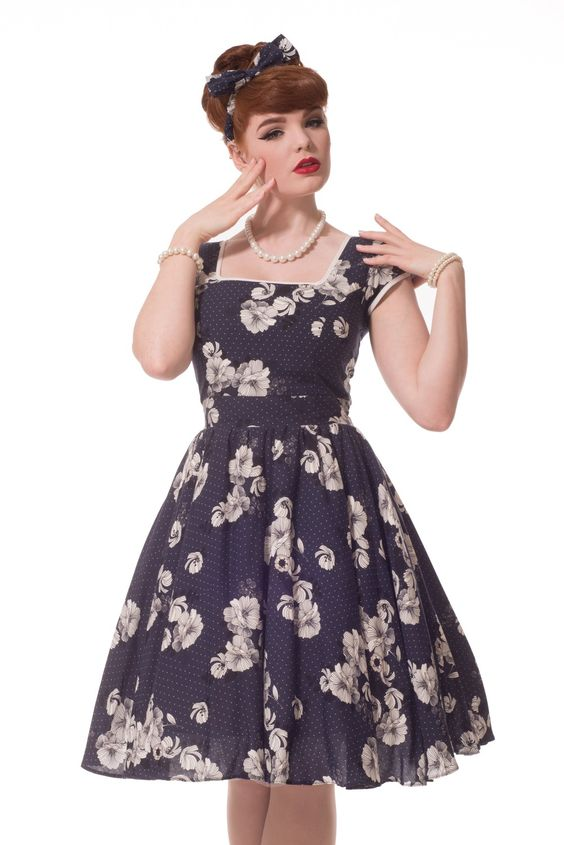 Navy Floral &quotSo Sweet&quot Definition Swing Dress  I&39d Rock That ...