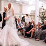 """As for Patti-Anne's dress, she got it at Kleinfeld. """"It's very gorgeous,"""" she says of the $7,000 Mark Zunino design. """"I feel like it's a piece of art."""" She's planning a significant alteration to the dress. Patti-Anne wants to look like a mermaid, so she'll be dyeing the train blue."""