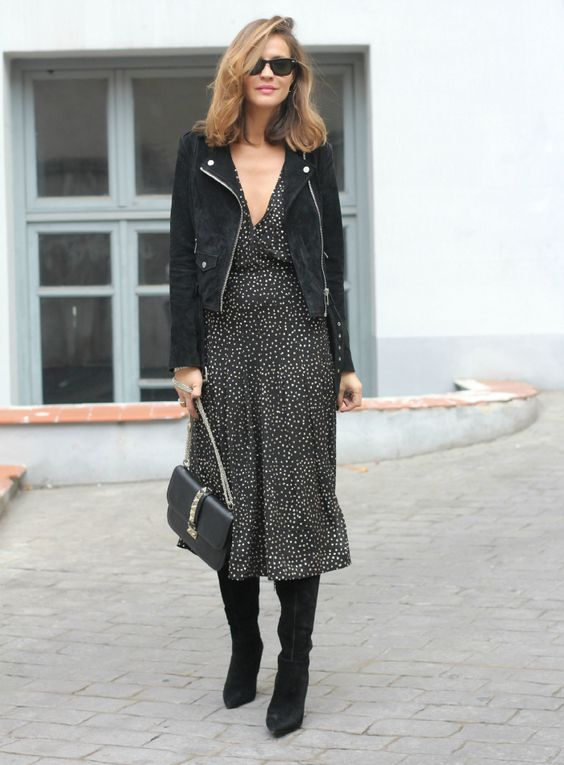 inspiration: midi and boots inspiracion - Lady Addict:
