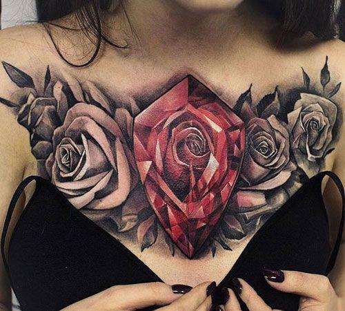 101 Best Rose Tattoo Ideas For Women 2020 Guide In 2020 Chest Tattoos For Women Rose Chest Tattoo Chest Piece Tattoos