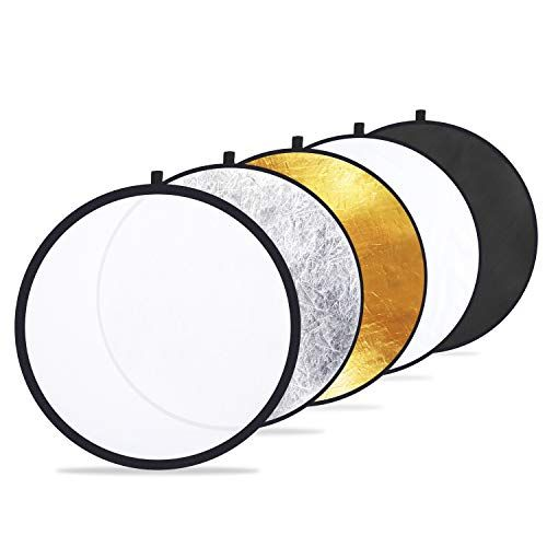 Etekcity 24 60cm 5 In 1 Portable Collapsible Multi Disc Photography Light Pho Reflector Photography Photography Light Reflector Digital Photography Lighting