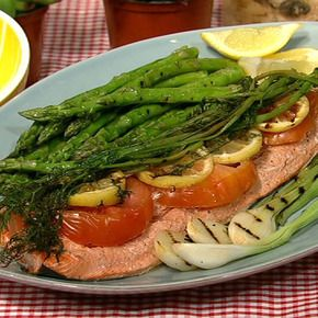 Michael's Lemon Grilled Salmon.