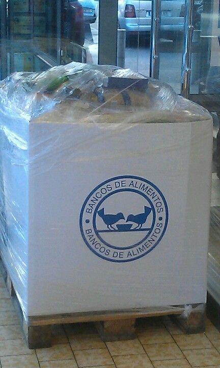 Se han llenado cientos de cajas como está  en la Gran Recogida de Alimentos