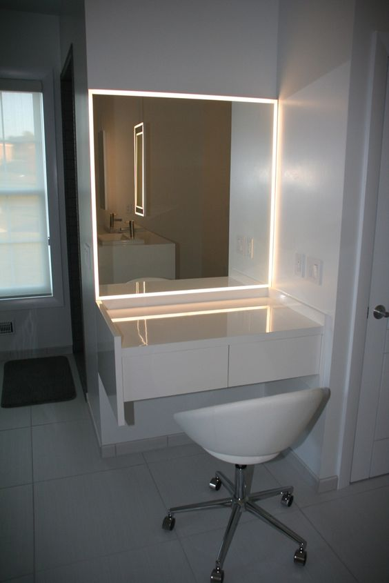 Bathroom Mirror With Led Lightning Dream Home