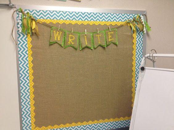 Burlap bulletin board--simple to make!