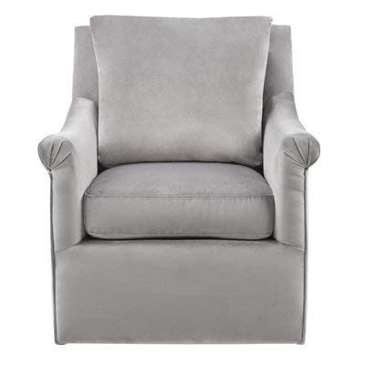 Fabric Accent Chair With Round Arms Swivel Accent Armchair With
