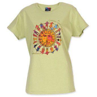 Laurel Burch Harmony Under The Sun Pistachio T-Shirt $22.99