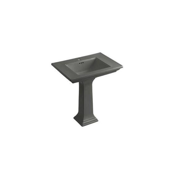 kohler k22681 memoirs pedestal lavatory with singlehole faucet drilling thunder