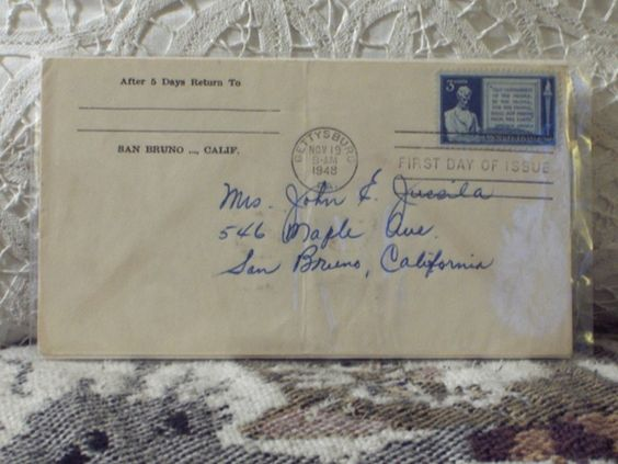 http://ajunkeeshoppe.blogspot.com/  First Day Issue/Cover-Stamp-Abraham Lincoln 1948 3c 8ozP724B4HP1165