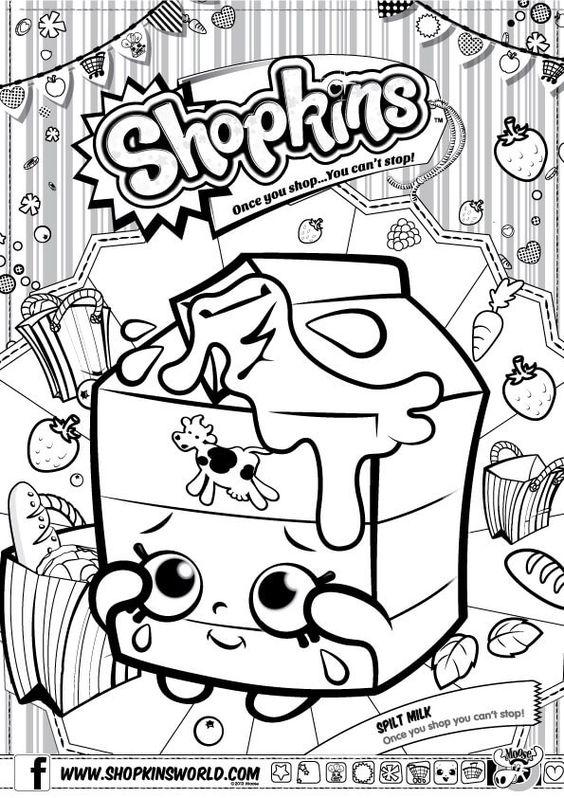 Shopkins Coloring Pages Season 1 Spilt Milk | Party ...