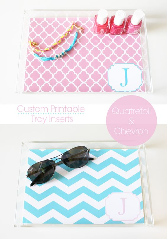Custom Printable Acrylic Tray Inserts - Get printable acrylic tray inserts for free!