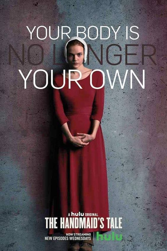 The Handmaid's Tale, Madeline Brewer's character Janine, caption reads: Your body is no longer your own.