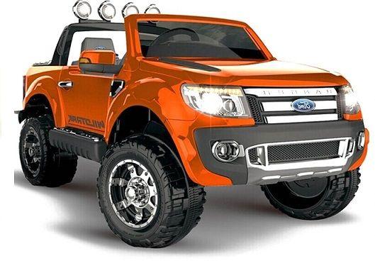 Coche Infantil Ford Ranger 12v 2 Motores 45w Naranja Indalchess