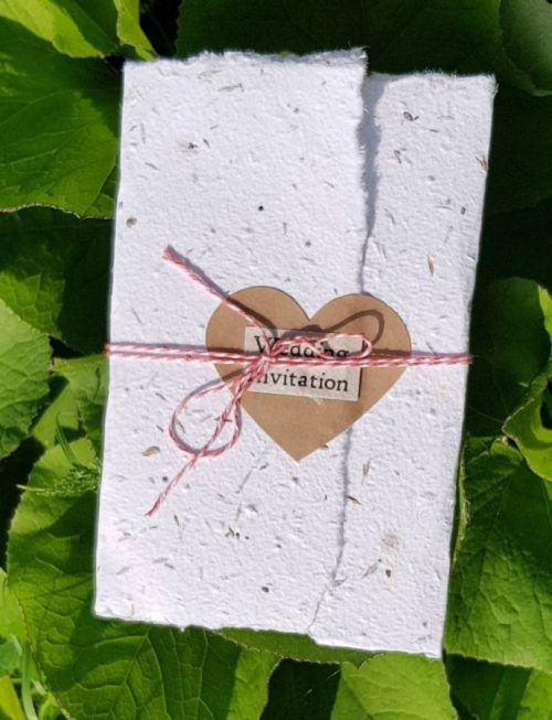 Recycled Folded Seed Paper Wedding Invite Seed Paper Wedding