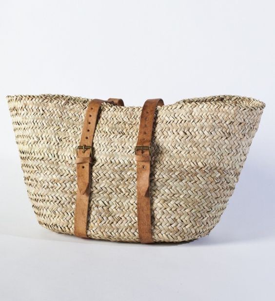 Buckle basket purse.