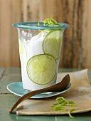 Limettenjoghurt