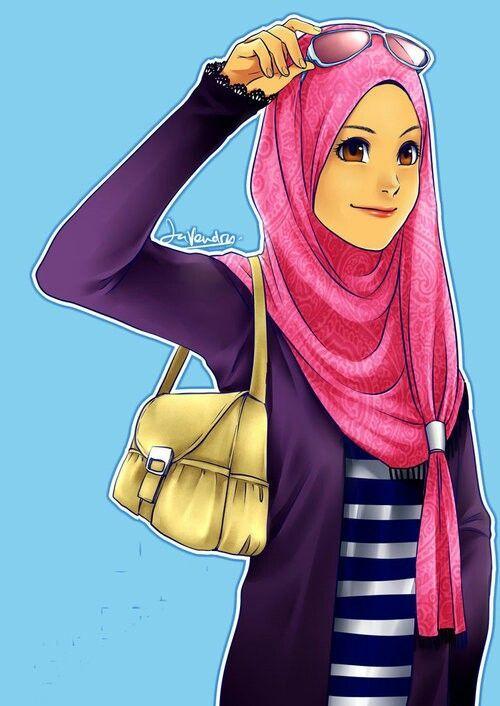 Gambar Animasi Kartun Islami Lucu Gambar Kata Kata Anime Muslimah Islamic Cartoon Hijab Cartoon