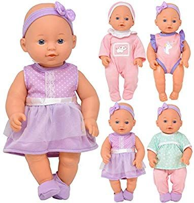 Amazon Com Baby Doll With Clothes Includes Newborn Accessories And Toys For Dolls Realistic 12 Inch Vinyl Doll 8 Pi With Images Newborn Accessories Baby Doll Accessories