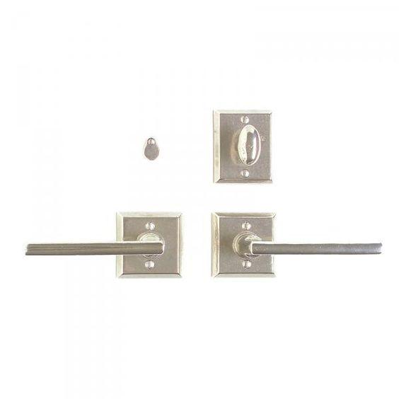 Square privacy set 2 5 8 x 2 5 8 privacy mortise bolt - Interior door privacy mortise lock ...