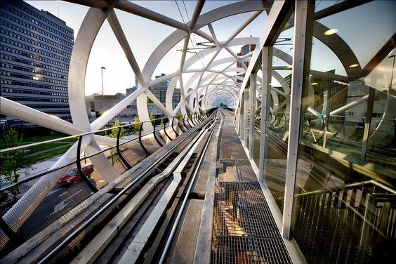 RandstadRail Station Beatrixlaan Den Haag, designed by Zwarts & Jansma Architecten #architecture
